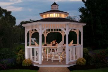 Octagon gazebos sold by Miller's MIni Barns