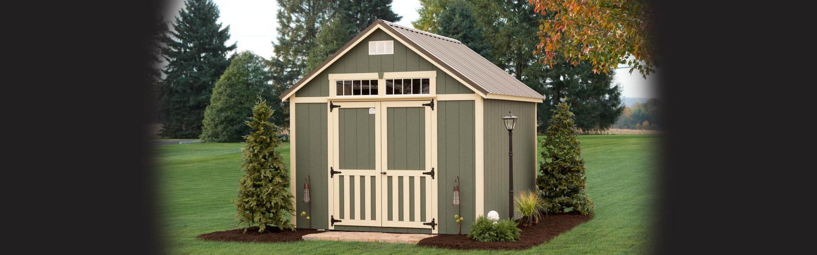 Amish backyard storage shed