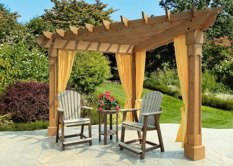 wooden pergola diy kit or built on site millers mini barns. Black Bedroom Furniture Sets. Home Design Ideas