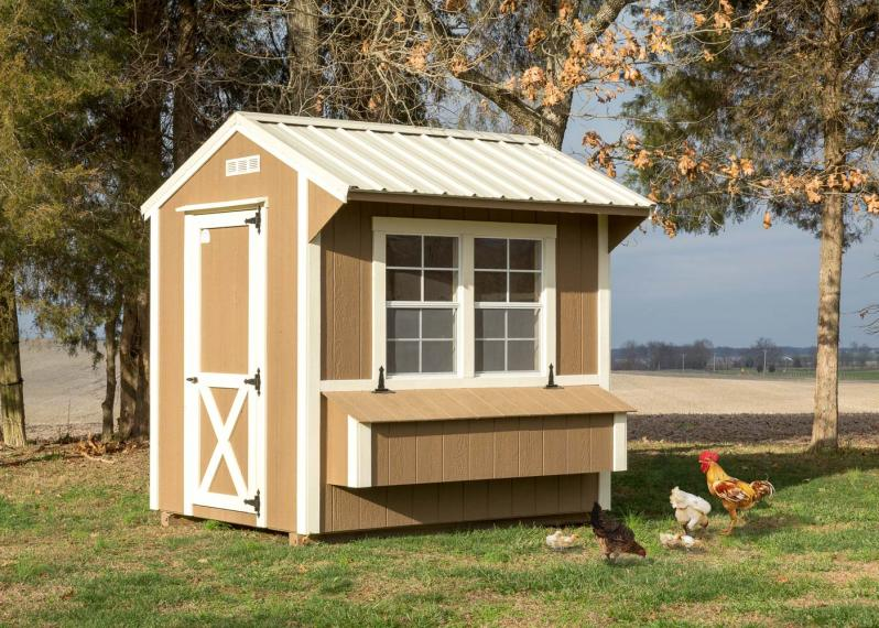 Portable Chicken Coop by Millers Mini Barns