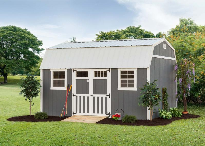 Lofted Garden Shed by Millers Mini Barns