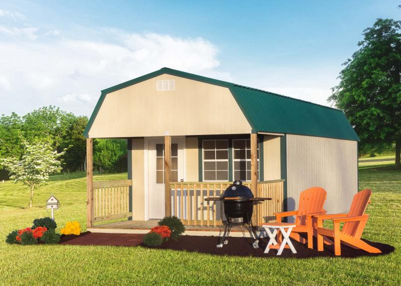 Lofted Cabin by Millers Mini Barns