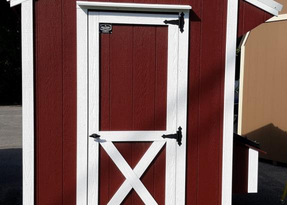 Model 8580 6x8 Red with White trim Chicken Coop