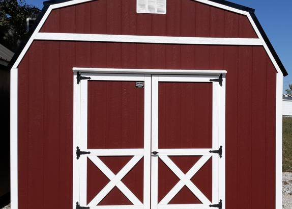Model 8116 12x16 Red with White trim Lofted Barn