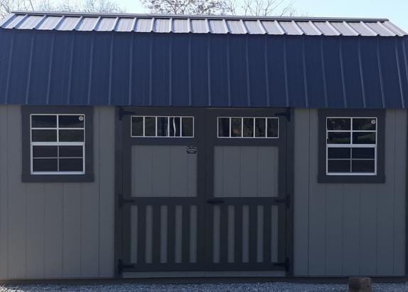 Model 9406 10x16 Clay with Burnished Slate Trim & Metal Roof Lofted Garden Shed