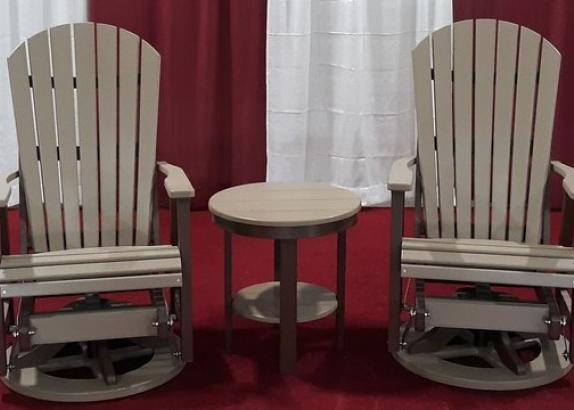 2' Comfo Swivel Glider Set w/ Round End Table