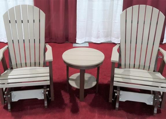 2' Comfo Glider Set w/ Round End Table