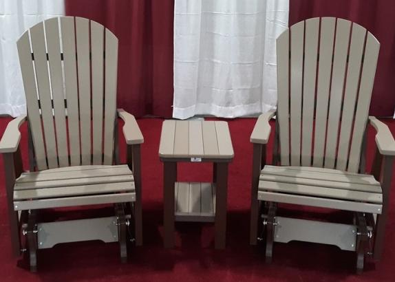 2' Comfo Glider Set w/ Rectangle End Table