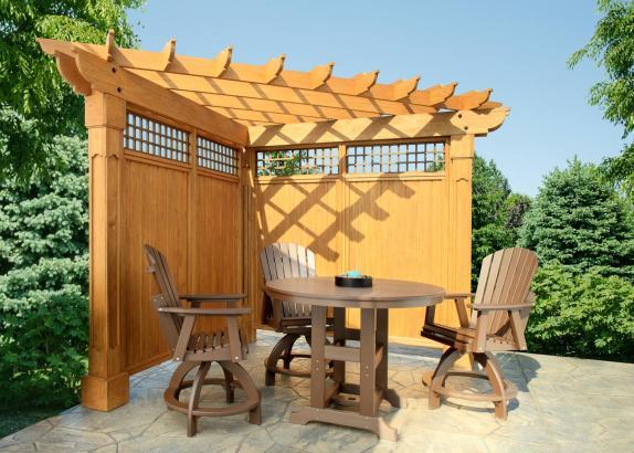 The Alcove Wooden Corner Pergola Millers Mini Barns