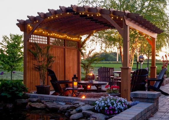 The Riviera Wood Pergola Millers Mini Barns