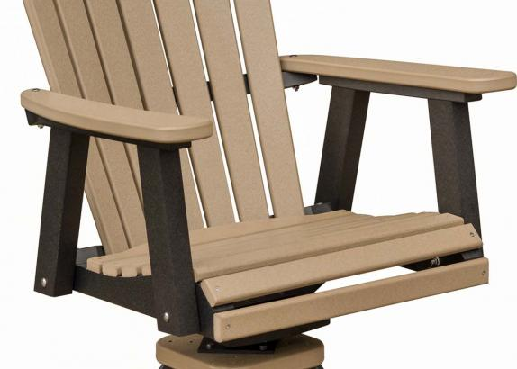 Comfo Back Brown And Black Outdoor Swivel Dining Chair Miller S Mini Barns