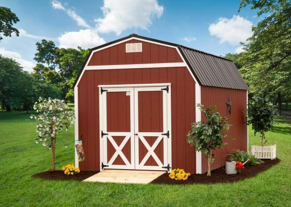 Lofted barn millers mini barns for Lofted barn shed