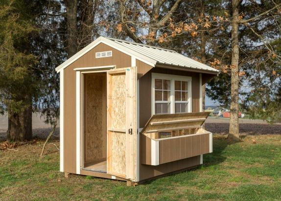 Chicken coop millers mini barns for Small portable chicken coop