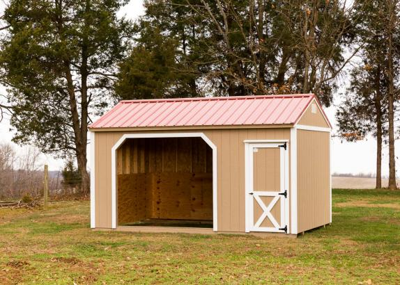 Horse barns run in sheds millers mini barns for Mini barn shed