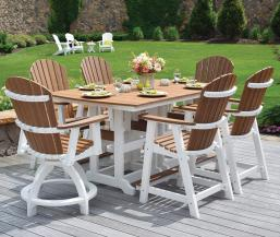 44x72 inch garden classic table with comfo back chairs